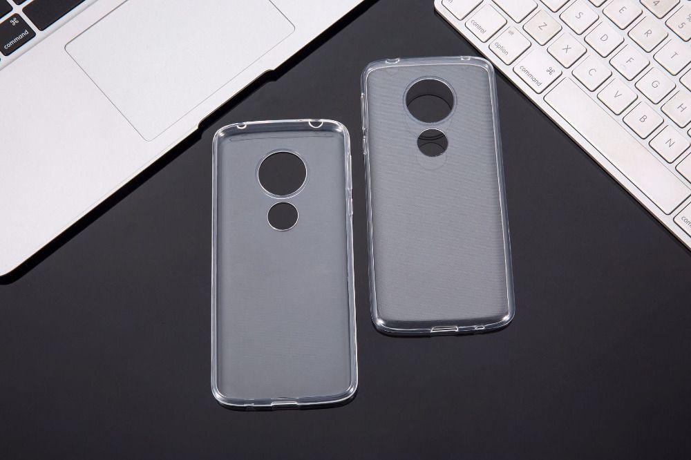 Ультратонкий силиконовый бампер для Motorola Moto E5