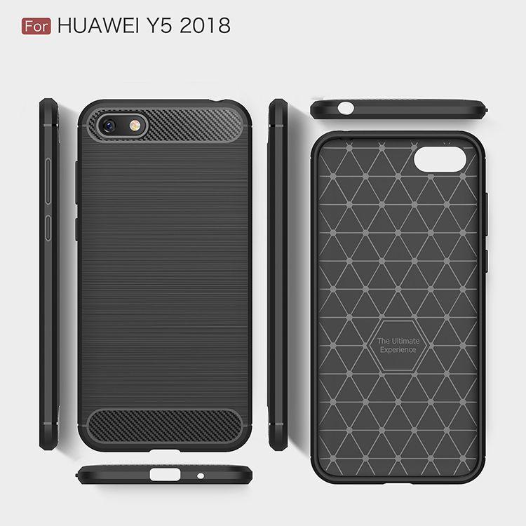 Силиконовый чехол Hybrid Carbon для Huawei Y5 2018