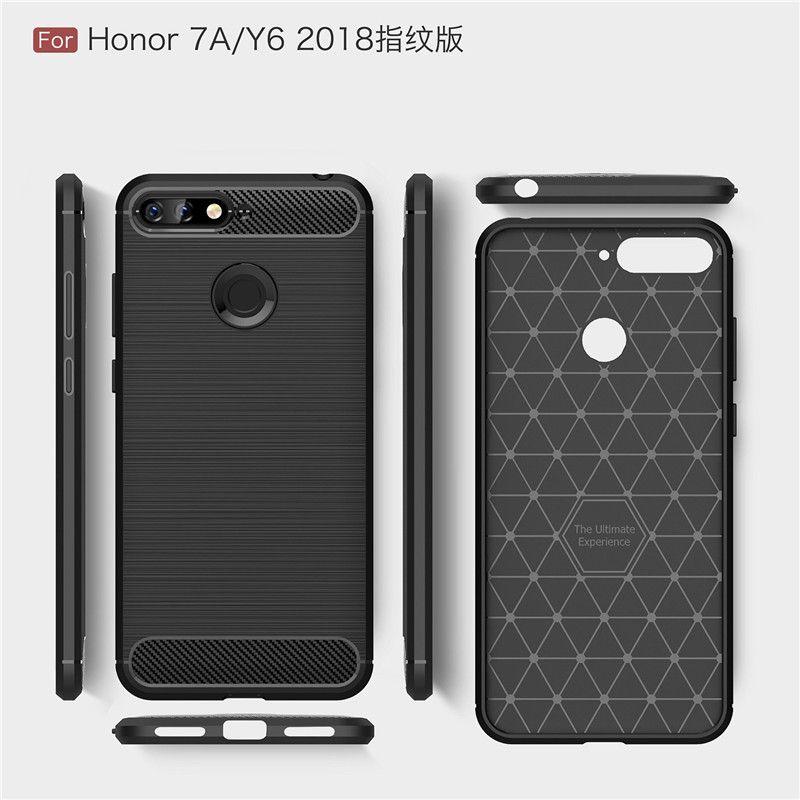 Защитный чехол Hybrid Carbon для Huawei Y6 (2018)