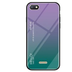 TPU+Glass чехол Gradient HELLO для Xiaomi Redmi 6A - Purple