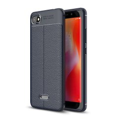 Защитный чехол Hybrid Leather для Xiaomi Redmi 6A - Dark Blue